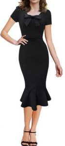 black Pinup Wiggle Dress