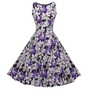 blue floral pin up dresses