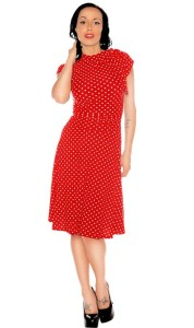 bridget red pin up dresses