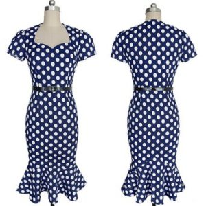 dots Pinup Wiggle Dress