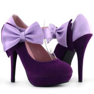 purple anckle strap shoes