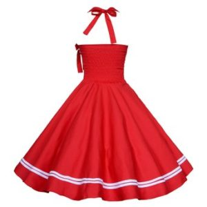 red-halter-circle-vintage-dress