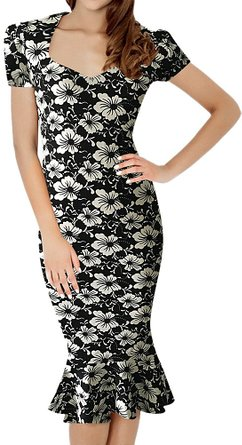 front Pinup Wiggle Dress