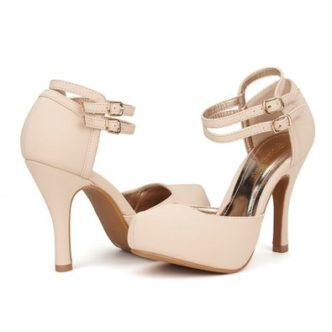 white Ankle Strap Shoes